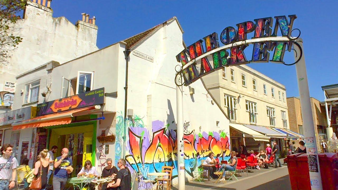 Brighton Walk High Street Shops Bars Restaurants Along London
