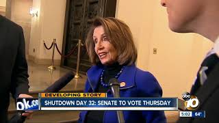 Senate to vote Thursday on shutdown bill