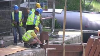 COTSWOLD CANALS - Ham Mill Lock  restoration update JUNE 2015
