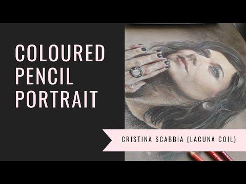 coloured-pencil-portrait-of-cristina-scabbia-(lacuna-coil)-using-budget-art-materials