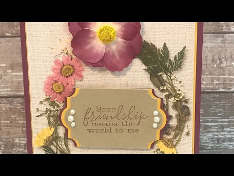 How to make a hand stamped card - Pressed Petals Washi