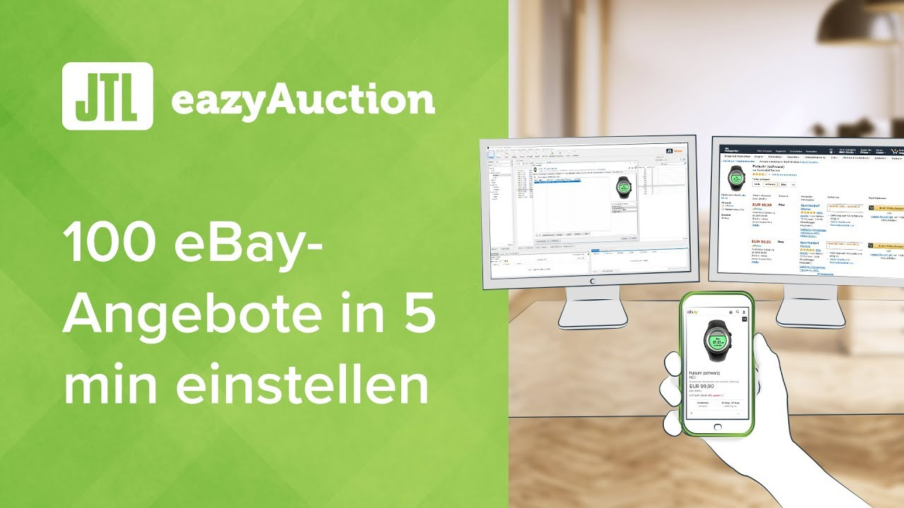 Jtl Eazyauction 100 Ebay Angebote In 5 Min Einstellen Youtube