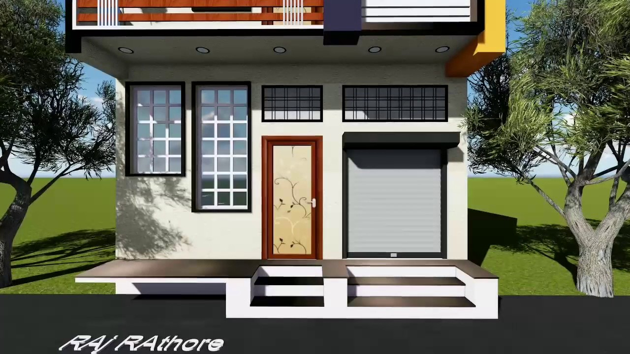 Front Elevation For 25 Feet Front : Feet front elevation youtube