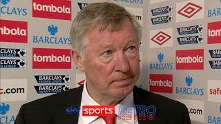 Sir Alex Ferguson's reaction after Manchester City won the Premier League in 2012