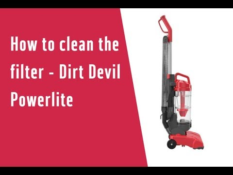 How To Clean The Filter Dirt Devil Powerlite 3977848 Youtube