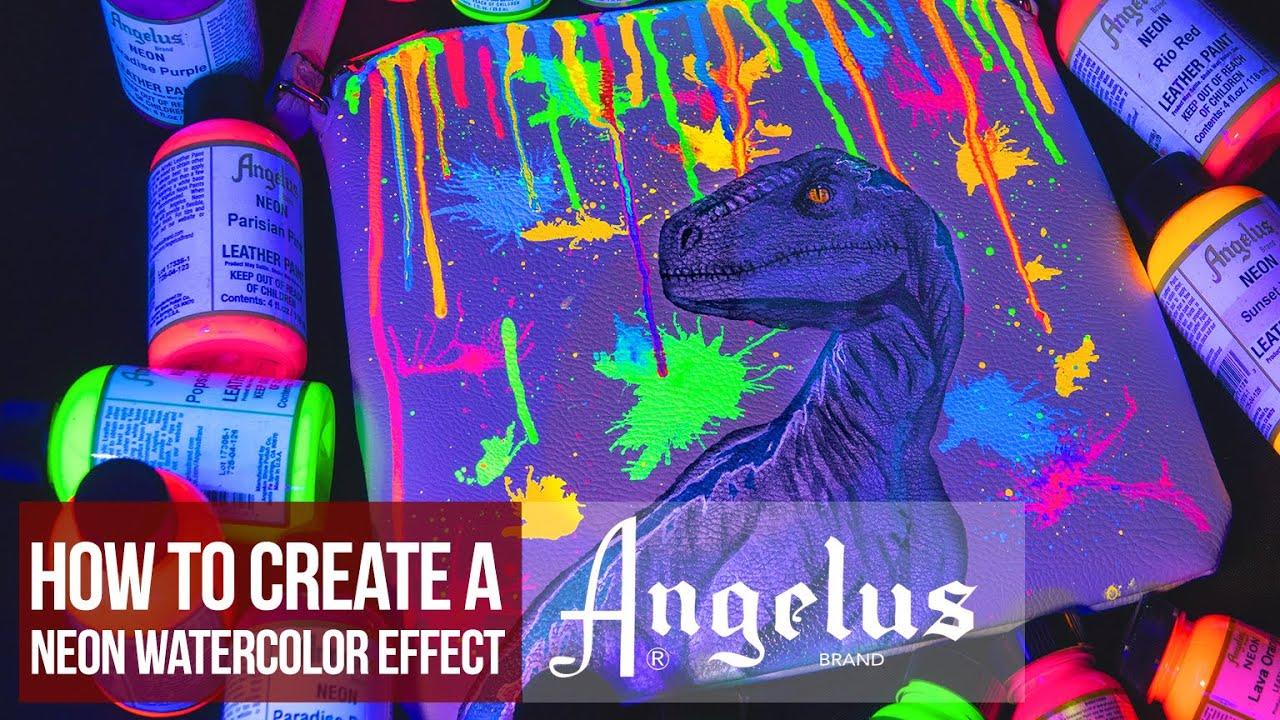 Neon Watercolor Splash Effect | Custom