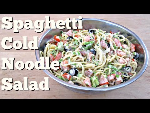 Spaghetti Cold Noodle Salad - PoorMansGourmet