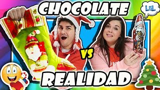 CHOCOLATE GRANDE VS PEQUEÑO! Big chocolate vs small chocolate challenge.