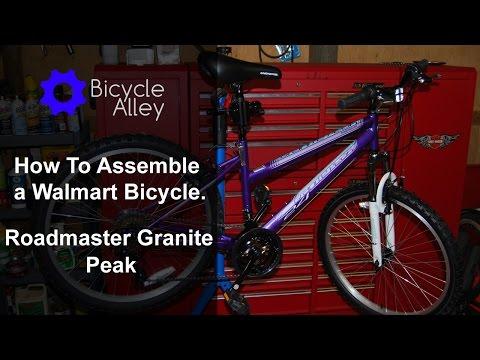 How to assemble a Walmart Bicycle - Roadmaster Granite Peak