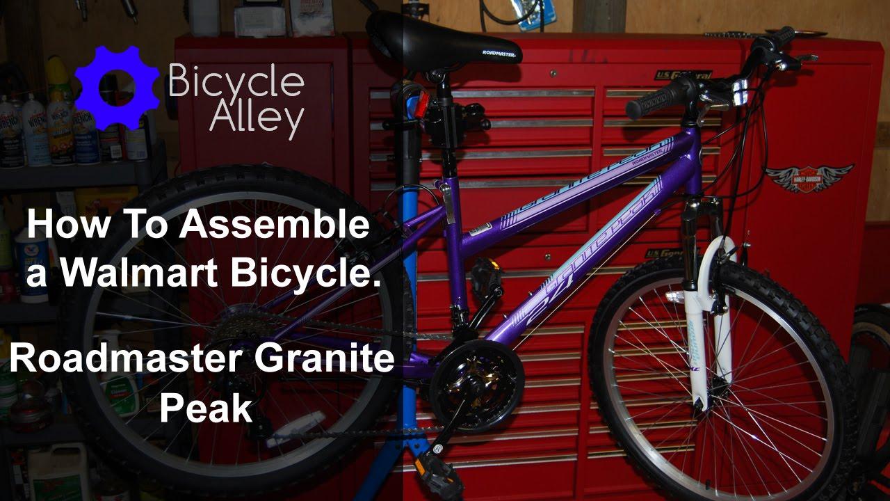How To Assemble A Walmart Bicycle   Roadmaster Granite Peak