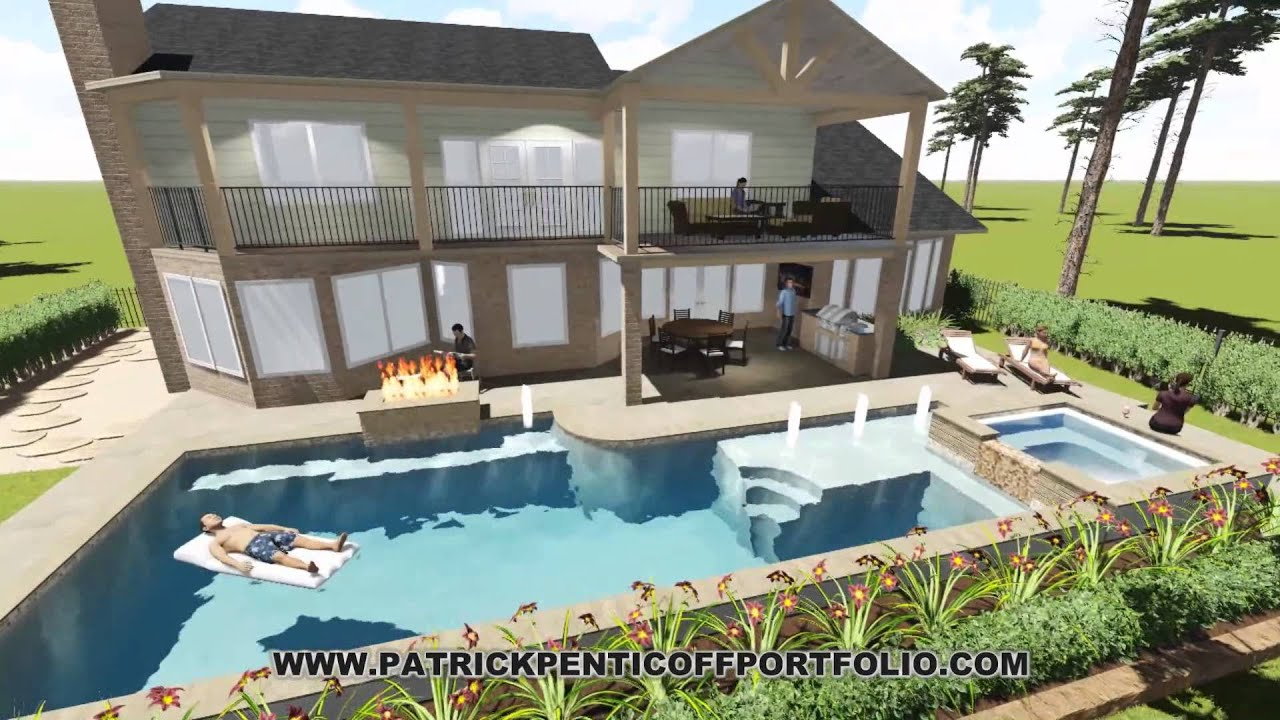 Residential Landscape Swimming Pool Lumion 3d