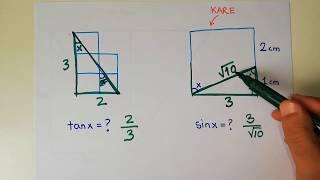 TRİGONOMETRİ 7 | Trigonometrik işlemler (Üçgen kullanarak değer bulma)