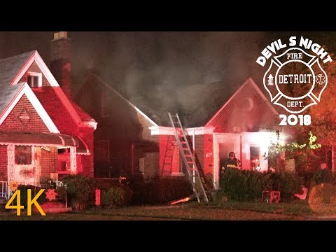 Box Alarm - Devil's Night 2018 - Detroit Fire, 5910 Balfour Rd., 10/31/2018