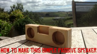 🔴How to make a wooden passive speaker 🔴004🔴