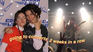 going to girl in red's + conan gray's concerts