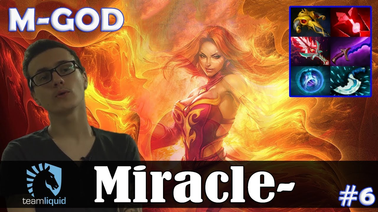 Miracle Lina Mid M God Dota  Pro Mmr Gameplay