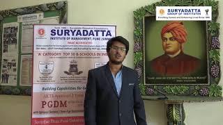 Aishwarya Nisar - Suryadatta Group Of Institutes - Student Testimonial