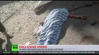 GRAPHIC: Children killed in missile attack on Gaza refugee camp