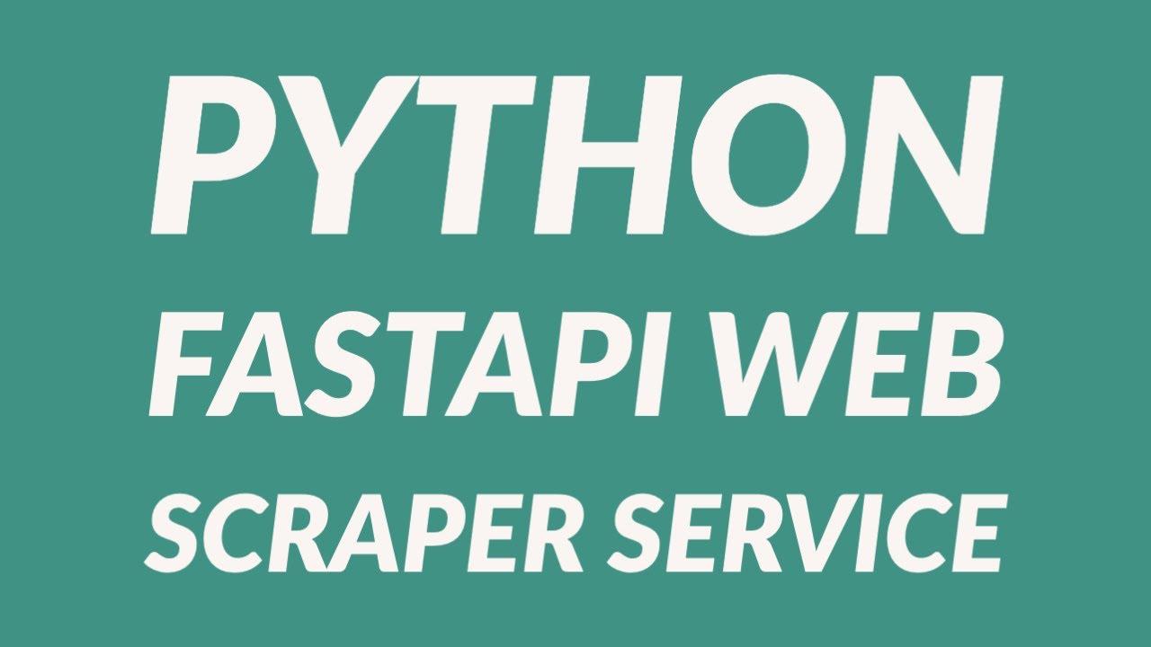 Build a Web Crawler Service with Python FastAPI 2/2 - FastAPI Tutorial