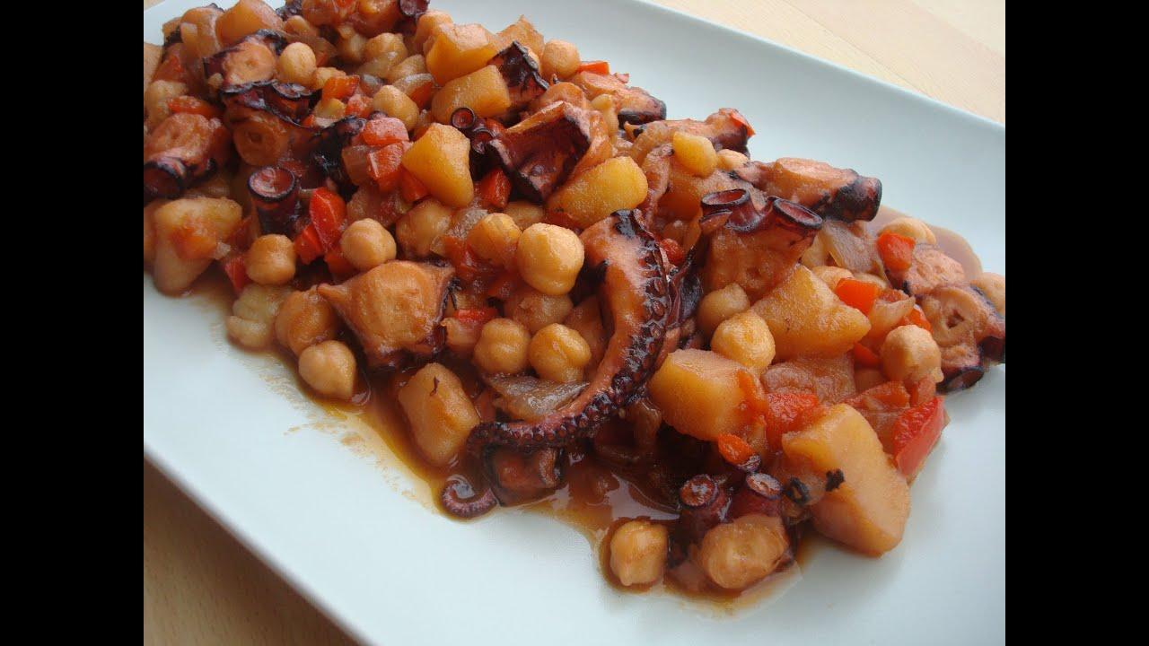c mo preparar pulpo con garbanzos receta f cil tonio