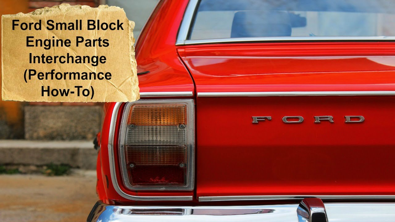 Book Review Ford Small Block Engine Parts Interchange Performance