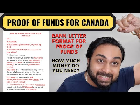 Proof of Funds for Canada Immigration | Bank Letter Format for Express Entry Canada PR