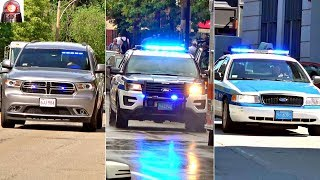 Police Car Responding Compilation Lights and Sirens Unmarked and Marked