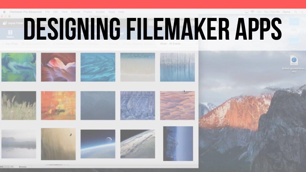 Designing FileMaker Apps