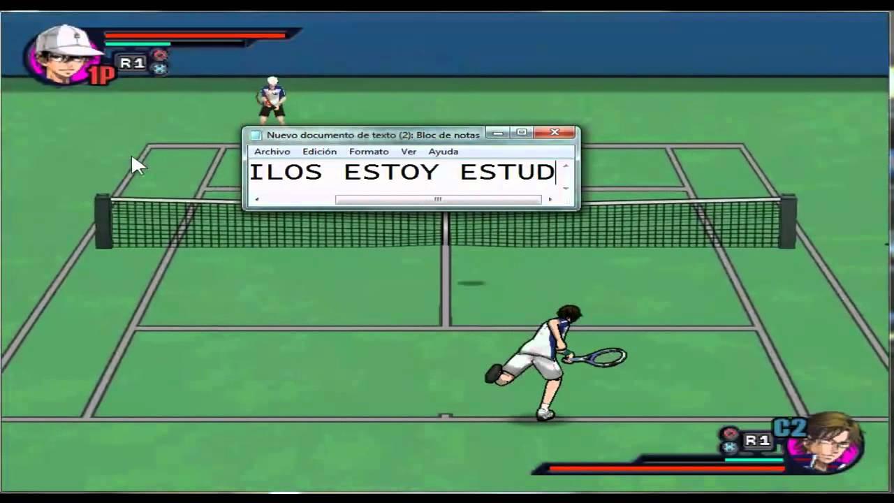 Prince of tennis mi primer juego en mi pc (PS2 EMULADOR), CUARTE VS TESCA e,e