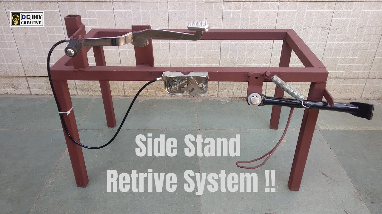 Side Stand Retrive System !! #Engineering Project #Two wheeler safety