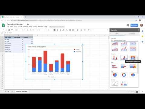 Google Sheets: Biểu đồ hình cột xếp chồng