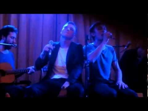 Daniel Adams-Ray performs a duet with John Guidetti