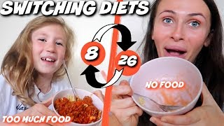 I SWAPPED DIETS with my 8 YEAR OLD sister for 24 HOURS!!