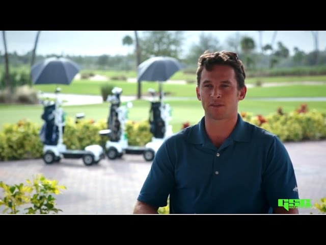 Greg Norman Junior Talks Golf Skate Caddy
