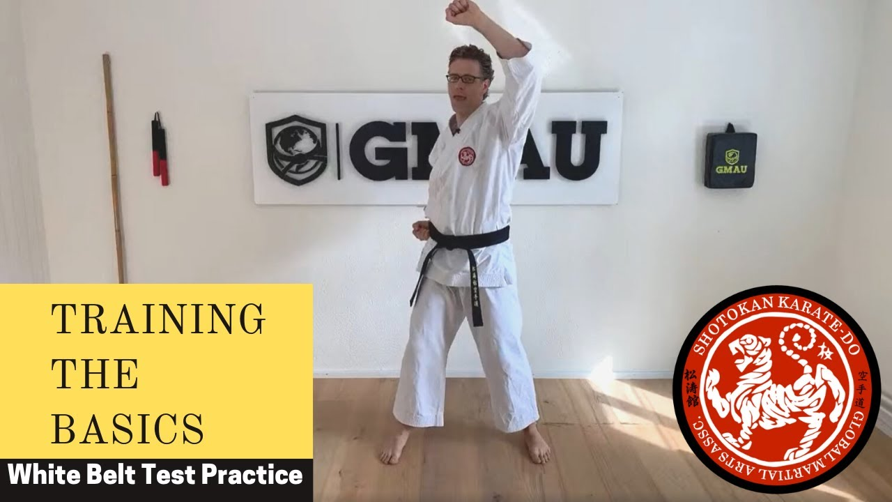 GMAU Shotokan Karate Live Class - Training the Basics Practice for the White Belt Test