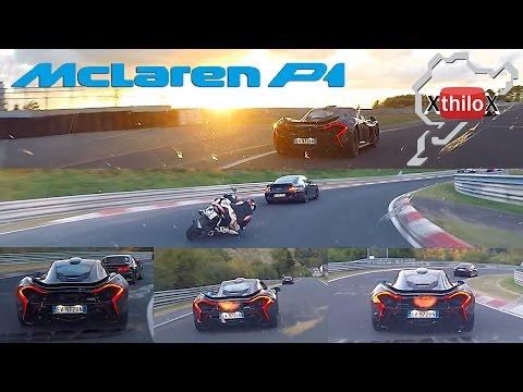 McLaren P1 + Seat Leon Cupra + Fast Biker - Epic - Nürburgring Nordschleife BTG TF Onboard