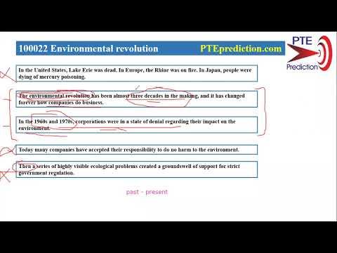 【PTE prediction】Reorder Paragraphs Explanation—Environmental revolution