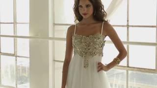 Модное дизайнерское платье золотистого цвета