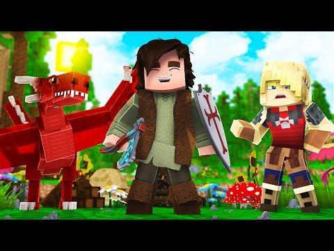 Minecraft: O VIKING MAIS FORTE  - COMO TREINAR O SEU DRAGÃO 08 ‹ BRUNINHO ›