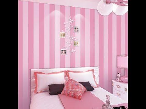 Kreasi Wallpaper Warna Pink Kamar Tidur Remaja Putri Youtube