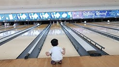 3 THREE YEAR OLD PLAYS REAL BOWLING AND BILLIARDS