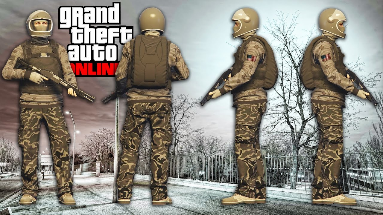 GTA 5 ONLINE - URBAN SOLDIER OUTFIT (GTA 5 BEST MILITARY OUTFITS) - YouTube
