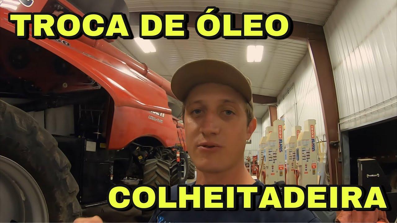 TROCA DE OLEO NAS COLHEITADEIRAS CASE 8250 EP-76