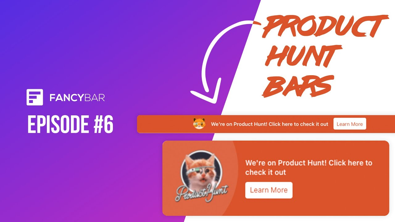 Building Product Hunt CTA Bars for our SaaS - Building a SaaS - Episode 6