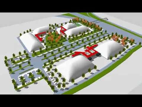 Broadwell Air Domes virtual tour - Sports Complex with repurposed shipping containers