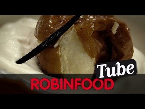 ROBINFOOD / Manzanas asadas + Tiramisú de Astigarraga