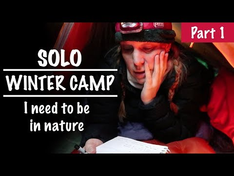 Solo Woman Winter Camping using ONLY Summer Gear, Need For Nature -  PT 1 Season 2 -Ep#19