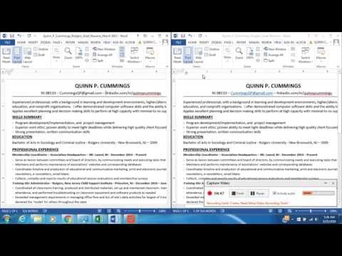 How To View Two Documents Side By Side In Word - 3 Different Ways