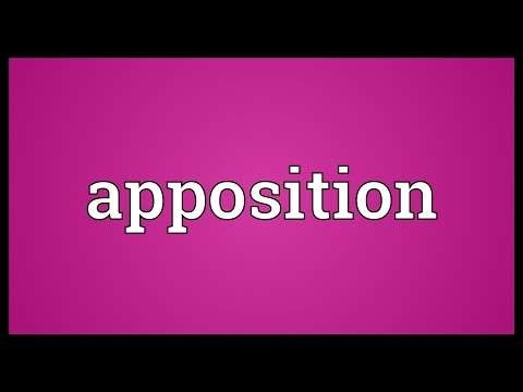 Apposition Meaning