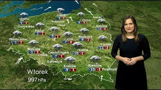 Prognoza pogody 16.01.2018